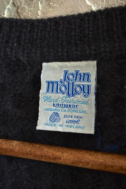 Aran knit cardigan over-dyed charcoal gray & black_f0226051_13321064.jpg