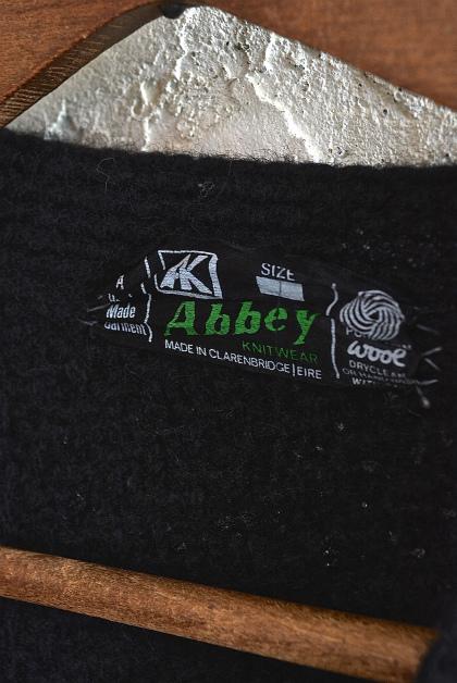 Aran knit cardigan over-dyed charcoal gray & black_f0226051_13350580.jpg