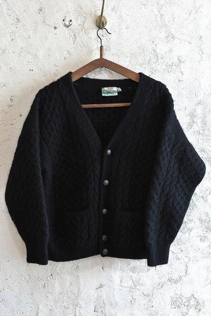 Aran knit cardigan over-dyed charcoal gray & black_f0226051_13381039.jpg