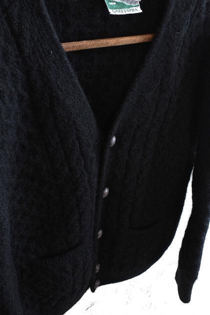 Aran knit cardigan over-dyed charcoal gray & black_f0226051_13381534.jpg