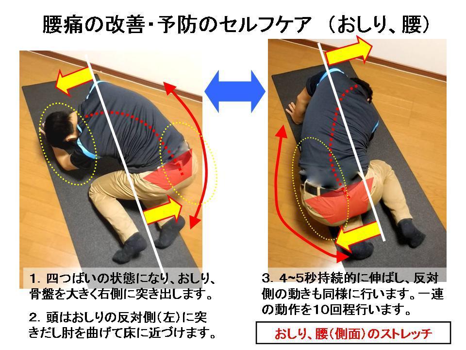 腰痛に効果的なセルフケア(おしり、股関節のストレッチ)_c0362789_22345987.jpg