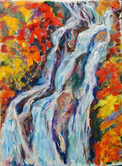 滝の絵、それと猫グッズ_d0193569_1734125.jpg