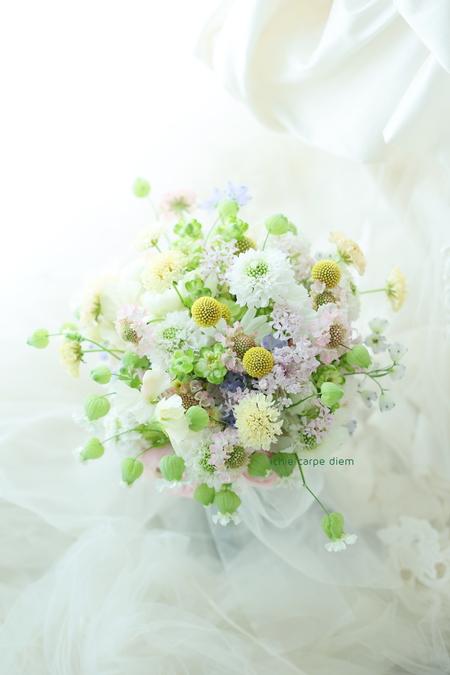 新郎新婦様からのメール シェ松尾松濤レストラン様へ 草花のブーケと花嫁様からの葉書_a0042928_17225496.jpg