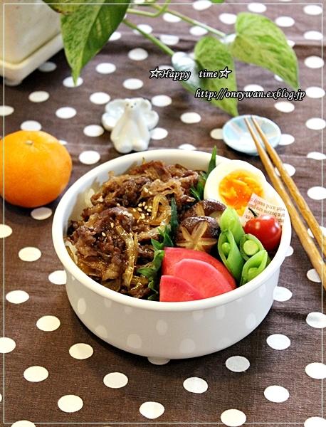 牛丼弁当とチョコチップパイ♪_f0348032_14154686.jpg