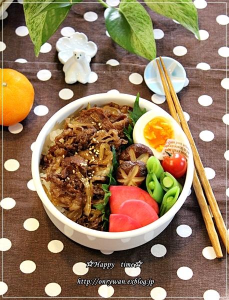 牛丼弁当とチョコチップパイ♪_f0348032_14155912.jpg