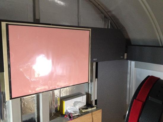 遠隔天文台に遮光パネルを設置しました。_c0061727_18233318.jpg