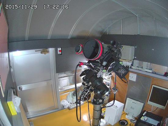 遠隔天文台に遮光パネルを設置しました。_c0061727_1823842.jpg