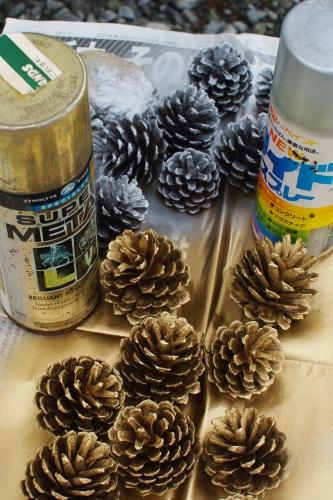 庭と畑の自然素材で、クリスマスリースを作る。_c0110869_629399.jpg