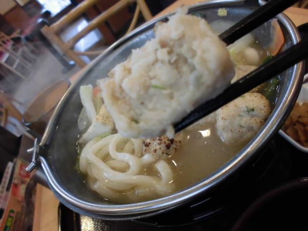 すき家の鶏つくね鍋定食     東淀川大桐店_c0118393_914484.jpg