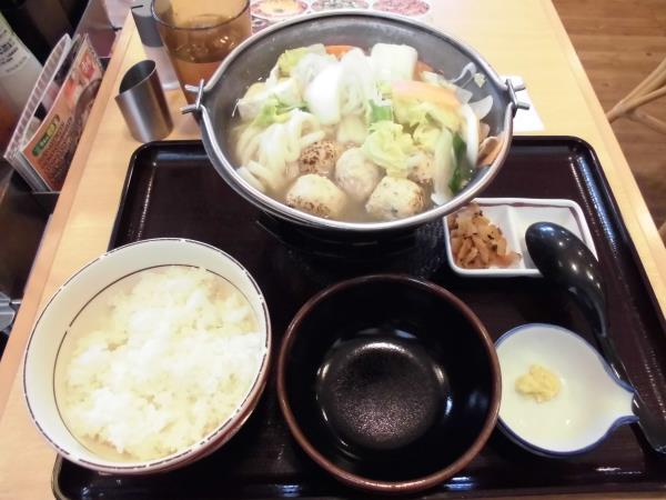 すき家の鶏つくね鍋定食     東淀川大桐店_c0118393_93184.jpg