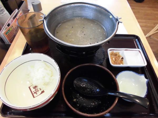 すき家の鶏つくね鍋定食     東淀川大桐店_c0118393_9372885.jpg