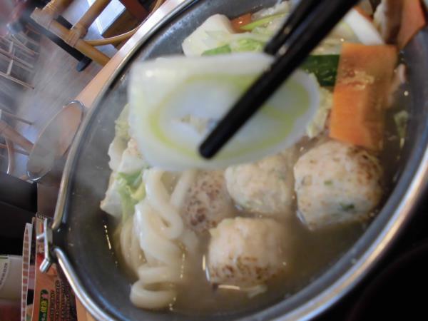 すき家の鶏つくね鍋定食     東淀川大桐店_c0118393_973023.jpg