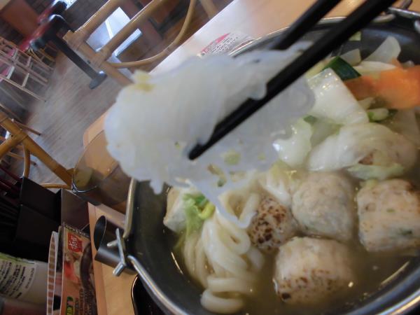 すき家の鶏つくね鍋定食     東淀川大桐店_c0118393_984747.jpg