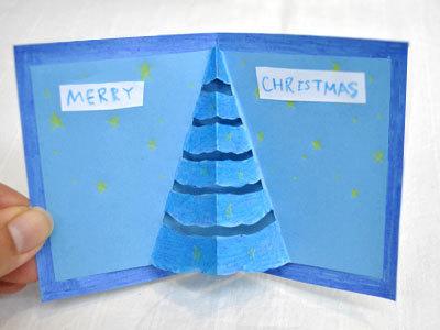 手作り クリスマスカード ポップアップ_d0225198_19232432.jpg