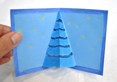 手作り クリスマスカード ポップアップ_d0225198_20010510.jpg