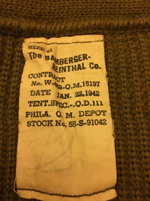 40\'S デッドストック!WW2 ミリタリーセーター!_c0144020_22452010.jpg