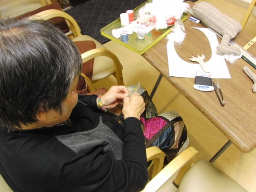 裁縫 ~ サンタとトナカイ ~_e0222340_18295754.jpg