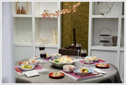 雅やかに色絵の器でワインパーティー ~パーティーコーディネートクラス_d0217944_0174128.jpg