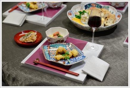 雅やかに色絵の器でワインパーティー ~パーティーコーディネートクラス_d0217944_0264990.jpg