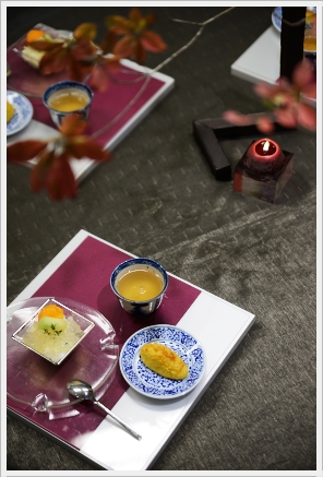 雅やかに色絵の器でワインパーティー ~パーティーコーディネートクラス_d0217944_0405895.jpg