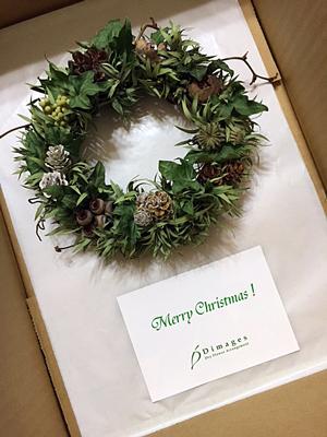 クリスマスリース♪_d0167088_12143466.jpg