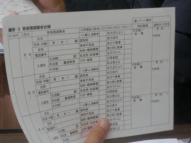 12月6日の吉原高校避難所開設・運営訓練に向けた最後の委員会全体会_f0141310_7334534.jpg