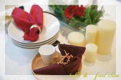 大人のクリスマス ~テーブル&フードクラス~ _d0217944_1242933.jpg