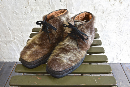 Seal skin lace up boots_f0226051_13543920.jpg