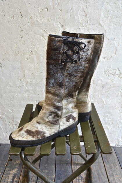 Seal skin lace up boots_f0226051_1432712.jpg