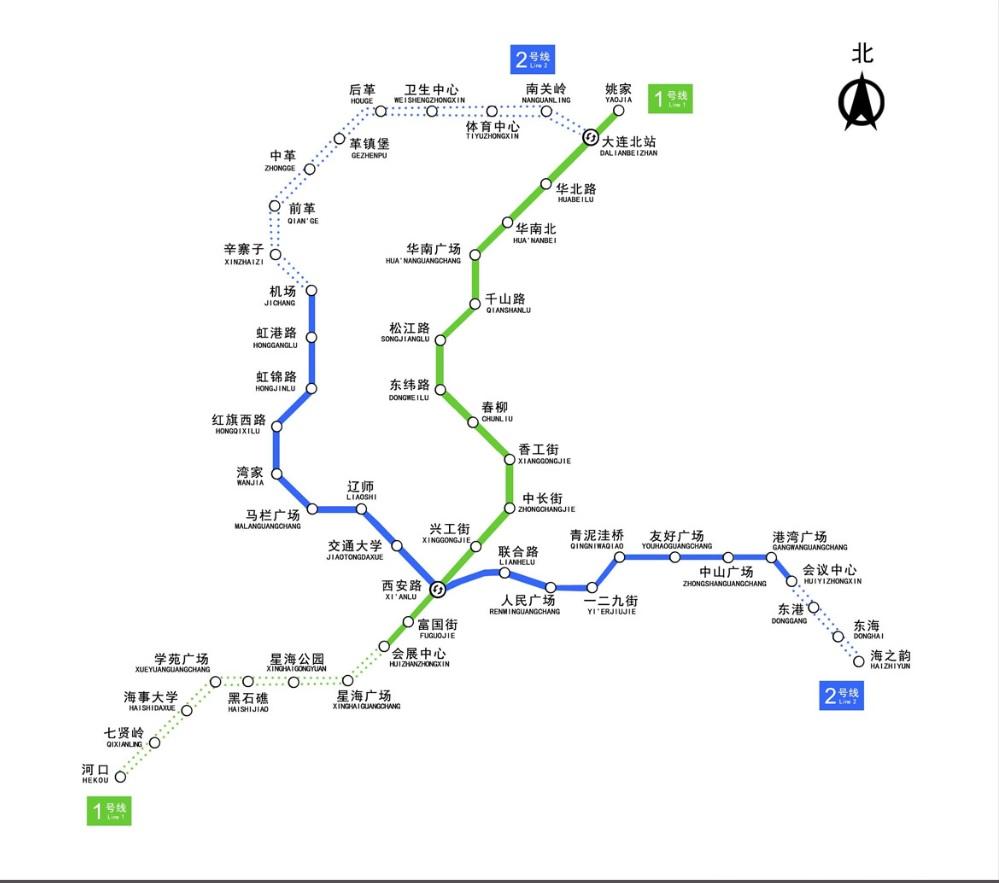 今年5月に続き、10月末大連の地下鉄の2本目が開通しました_b0235153_1219596.jpg