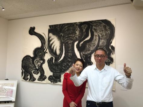 タオ書画作家 中国古代思想博士 西林真紀子さんの、タオ書画個展_a0112393_14171300.jpg