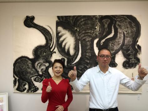 タオ書画作家 中国古代思想博士 西林真紀子さんの、タオ書画個展_a0112393_14171467.jpg