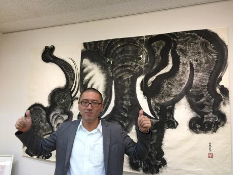 タオ書画作家 中国古代思想博士 西林真紀子さんの、タオ書画個展_a0112393_14171534.jpg