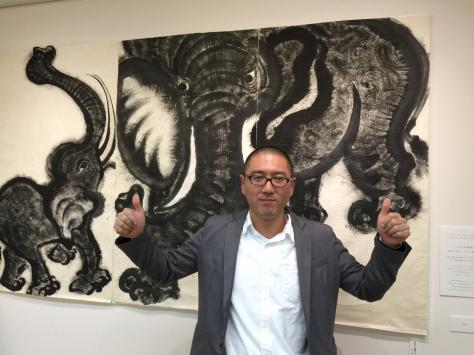 タオ書画作家 中国古代思想博士 西林真紀子さんの、タオ書画個展_a0112393_14171553.jpg