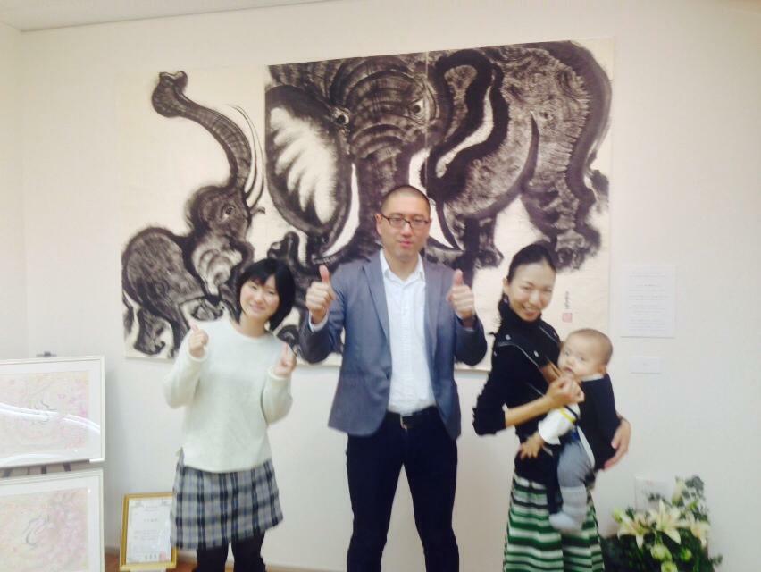 タオ書画作家 中国古代思想博士 西林真紀子さんの、タオ書画個展_a0112393_14171758.jpg