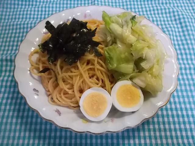 朝食たらこパスタ_f0019498_922561.jpg