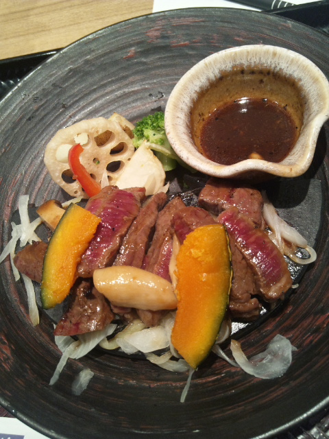 大戸屋 和牛のビフテキ 香味野菜と赤ワインの醬油ソース_f0076001_2327111.jpg