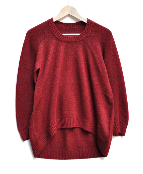 キャメル100% 裾カーブセーター  / FACTORY_d0193211_20541273.jpg