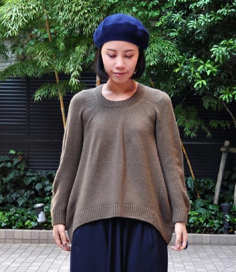 キャメル100% 裾カーブセーター  / FACTORY_d0193211_20574593.jpg
