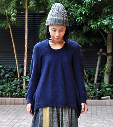 キャメル100% 裾カーブセーター  / FACTORY_d0193211_21111091.jpg