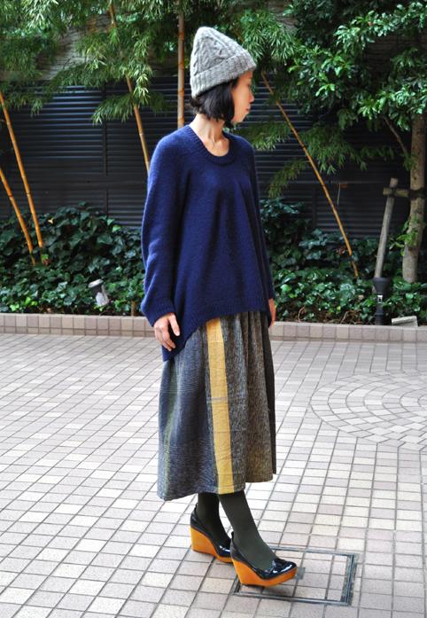 キャメル100% 裾カーブセーター  / FACTORY_d0193211_21132577.jpg