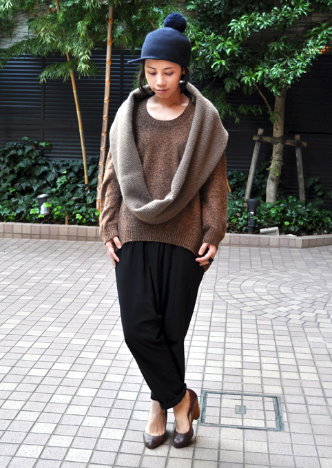 キャメル100% 裾カーブセーター  / FACTORY_d0193211_2161369.jpg
