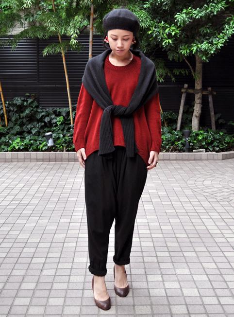 キャメル100% 裾カーブセーター  / FACTORY_d0193211_2172834.jpg