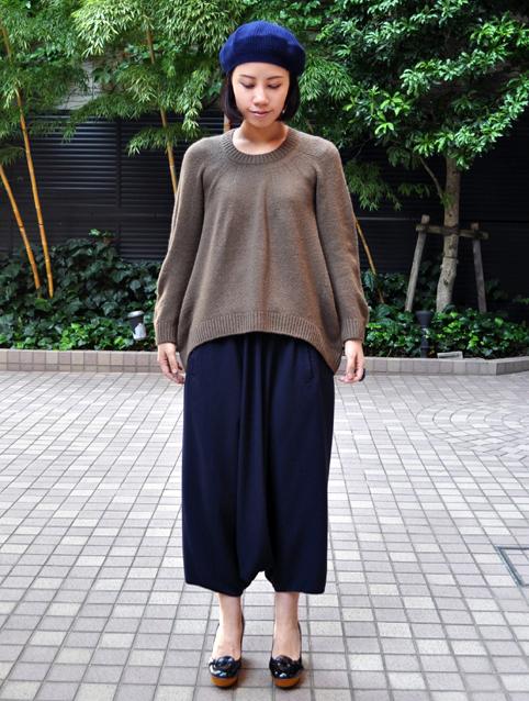 キャメル100% 裾カーブセーター  / FACTORY_d0193211_218033.jpg
