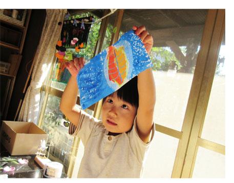落ち葉のモビール・幼児クラス(比良・上高野)_f0211514_18342548.jpg