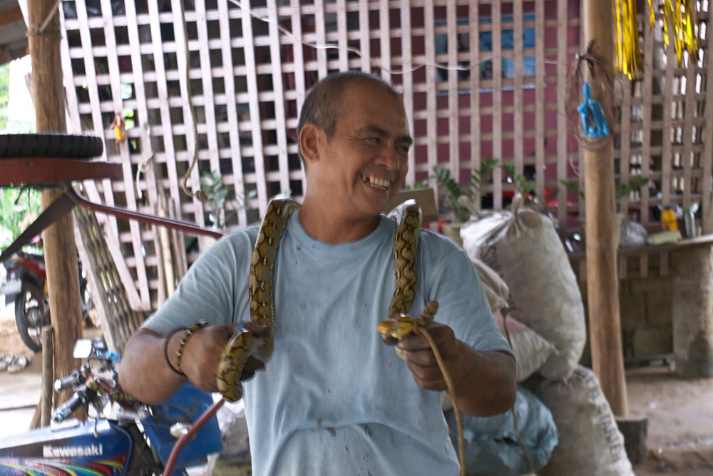 Our neighbour, Kuya Embing, caught a snake at their henhouse_e0202828_10040346.jpg
