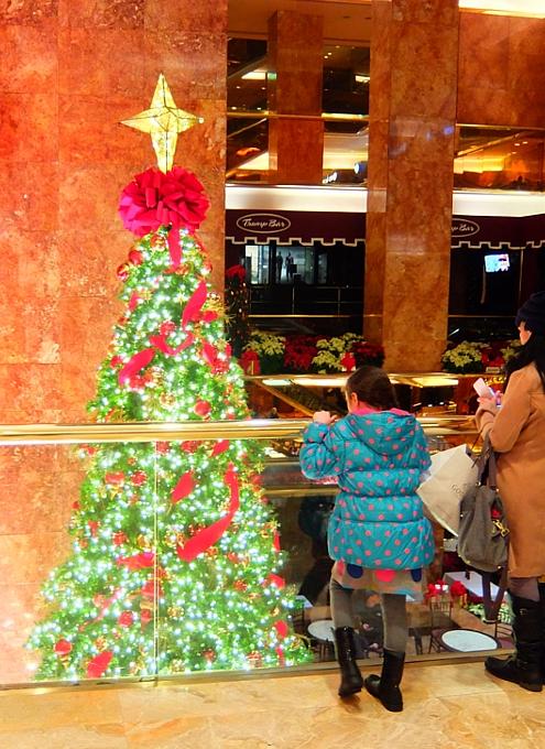 NY5番街沿いにあるトランプ・タワー内のクリスマス・ツリー_b0007805_19182466.jpg