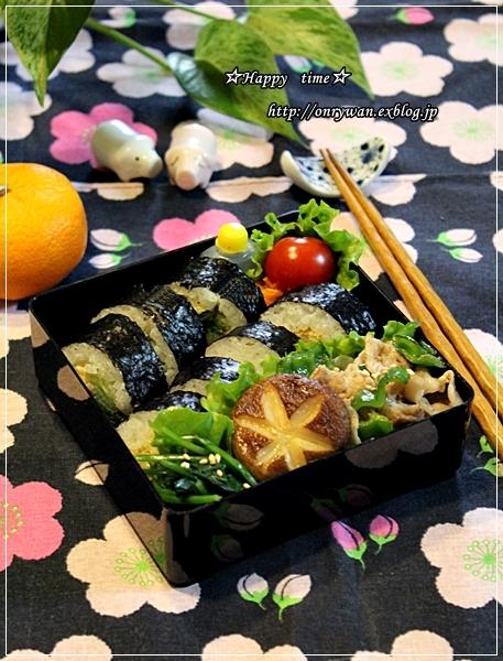海苔巻き弁当と常備菜作り♪_f0348032_18493833.jpg
