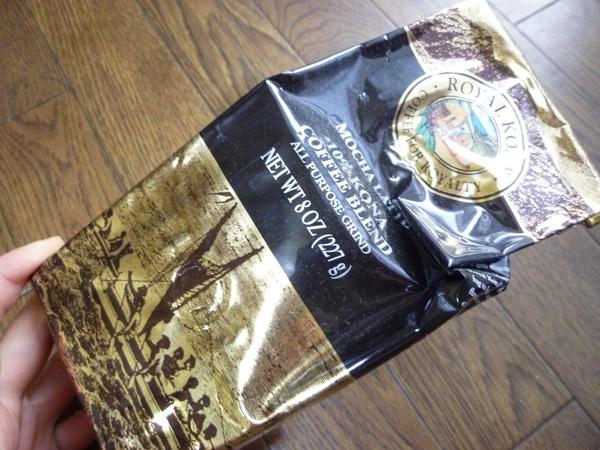 ROYAL KONA COFFEE MOCHA LATTE 10% KONA COFFEE BLEND 8oz_c0152767_22255449.jpg