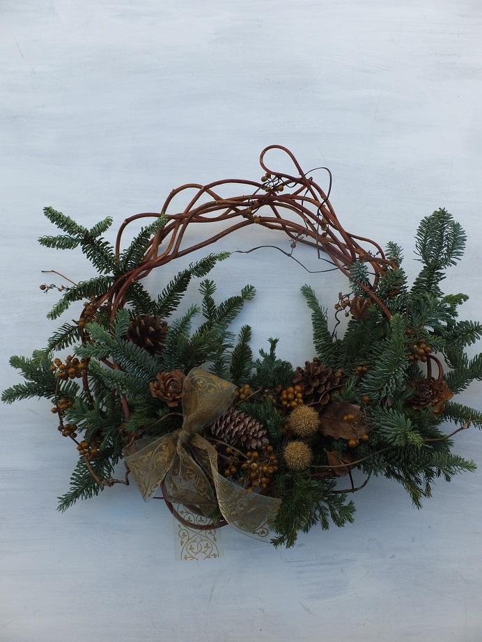 オークリーフ(クリスマスリースⅡ)_f0049672_18335862.jpg
